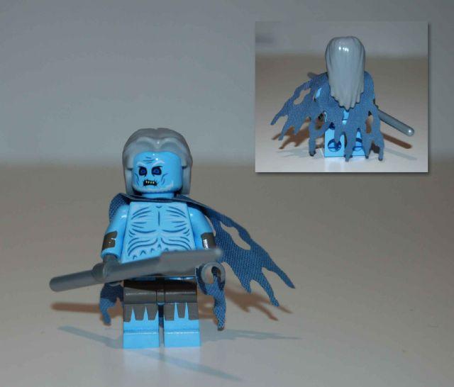 LEGO Minifigure Cloth Cape Dark Azure Custom Fabric Robe Cloak Elves Castle