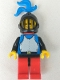 Breastplate - Blue with Black Arms, Red Legs with Black Hips, Black Grille Helmet, Blue Plume, Red Plastic Cape