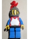 Breastplate - Red with Blue Arms, Blue Legs with Black Hips, Dark Gray Grille Helmet, Red Plume, Blue Plastic Cape