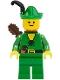 Forestman - Pouch, Green Hat, Black Feather, Quiver (Set 1974)