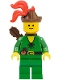 Forestman - Pouch, Brown Hat, Red 3-Feather Plume, Quiver