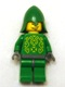 Knights Kingdom II - Rascus without Armor, Printed Torso, Green Neck-Protector