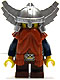 Fantasy Era - Dwarf, Dark Orange Beard, Metallic Silver Helmet with Wings, Dark Blue Arms