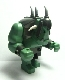 Fantasy Era - Troll, Sand Green with 2 White Horns and 3 Pearl Light Gray Horns
