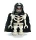 Fantasy Era - Skeleton Warrior 6, White, Black Hood and Cape