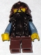 Fantasy Era - Dwarf, Dark Brown Beard, Copper Helmet with Studded Bands, Sand Blue Arms, Smirk