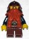 Fantasy Era - Dwarf, Dark Orange Beard, Copper Helmet with Studded Bands, Dark Blue Arms