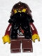 Fantasy Era - Dwarf, Black Beard, Copper Helmet with Studded Bands, Dark Red Arms