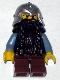 Fantasy Era - Dwarf, Dark Brown Beard, Metallic Silver Helmet with Studded Bands, Sand Blue Arms