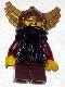Fantasy Era - Dwarf, Dark Brown Beard, Metallic Gold Helmet with Wings, Dark Red Arms, Vertical Cheek Lines