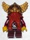 Fantasy Era - Dwarf, Dark Orange Beard, Metallic Gold Helmet with Wings, Dark Red Arms