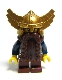 Fantasy Era - Dwarf, Dark Brown Beard, Metallic Gold Helmet with Wings, Dark Blue Arms