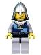 Fantasy Era - Crown Knight Quarters, Helmet with Neck Protector, Vertical Cheek Lines