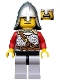 Kingdoms - Lion Knight Scale Mail with Chest Strap and Belt, Helmet with Neck Protector, Open Mouth (Dual Sided Head)