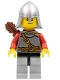 Kingdoms - Lion Knight Scale Mail with Chest Strap and Belt, Helmet with Neck Protector, Quiver, Smirk and Stubble Beard