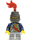 Red Sash, Helmet Closed, Light Bluish Gray Legs Short (9349)