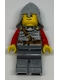 Kingdoms - Lion Knight Scale Mail with Chest Strap and Belt, Helmet with Neck Protector, Brown Eyebrows, Thin Grin (9349)