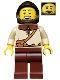 Kingdoms - Peasant, Male with Dark Brown Hood