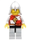 Kingdoms - Lion Knight Quarters, Helmet with Neck Protector, Crooked Smile and Scar
