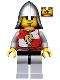 Kingdoms - Lion Knight Quarters, Helmet with Neck Protector, Eyebrows and Goatee