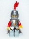 Kingdoms - Lion Knight Armor, Helmet Closed, Eyebrows and Goatee (Chess Bishop)