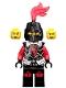 Castle - Dragon Knight Armor with Dragon Head, Helmet Closed, Red Plume, Black Bushy Eyebrows