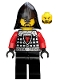Castle - Dragon Knight Scale Mail with Dragon Shield and Shoulder Armor, Helmet with Neck Protector, Black Beard