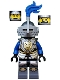 Castle - King's Knight Armor with Lion Head with Crown, Helmet with Pointed Visor, Blue Plume, Determined / Open Mouth Scared Pattern