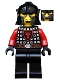 Castle - Dragon Knight Scale Mail with Dragon Shield, Cheek Protection Helmet, Bushy Eyebrows