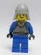 Castle - King's Knight Scale Mail, Crown Belt,  Helmet with Neck Protector, Open Grin