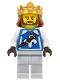 Warrior - King with Fleur de Lis Vest, Crown, Dark Brown Beard
