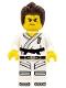 Warrior - Male, Karate Dress with Black Belt, Dark Brown Hair, Scarred Eye
