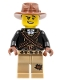 Warrior - Male with Bandoliers, Dark Tan Legs with Patch, Fedora Hat