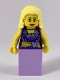 Musician - Female, Blouse with Gold Sash and Flowers, Lavender Skirt, Bright Light Yellow Hair
