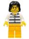 Police - Jail Prisoner 50380 Prison Stripes, Tousled Hair (5004574)