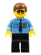 Police - City Shirt with Dark Blue Tie and Gold Badge, Black Legs, Brown Male Hair, Sunglasses (5002146)