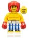 Boxer, Black Eye, Blue and White Striped Trunks