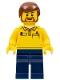Lego Store Employee, Dark Blue Legs, Brown Beard (4000022)