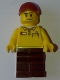Lego Store Driver, Black Legs, Dark Red Cap with Hole (4000022)