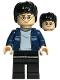 Harry Potter, Dark Blue Open Jacket with Stripe, Black Legs