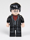 Harry Potter, Black Long Coat and Vest, Dark Red Shirt and Tie
