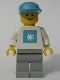 Maersk - White Torso (Sticker), Light Gray Legs, Maersk Blue Cap