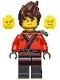 Kai - Hair, Pearl Dark Gray Katana Holder, The LEGO Ninjago Movie (70608)