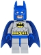 Batman - Light Bluish Gray Suit with Yellow Belt and Crest, Blue Mask and Cape