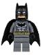 Batman - Dark Bluish Gray Suit, Gold Belt, Black Hands, Spongy Cape