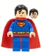 Superman - Blue Suit, Dual Sided Head with Red Eyes on Reverse, Spongy Soft Knit Cape (76040)