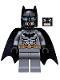 Batman - Dark Bluish Gray Suit, Gold Belt, Black Hands, Spongy Cape, Scuba Mask Head
