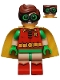 Robin - Green Glasses, Frown / Eyebrows Raised Pattern (70912)