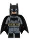 Batman - Dark Bluish Gray Suit, Gold Belt, Black Hands, Large Bat Logo, Printed Legs, Stubble (76086)