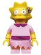 Lisa Simpson with Bright Pink Dress - Minifig only Entry